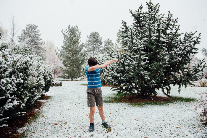 Shorts and snow